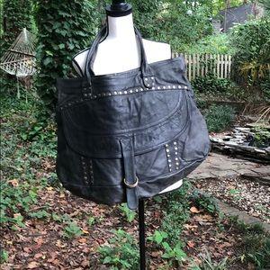 100% genuine leather oversized Duffle bag